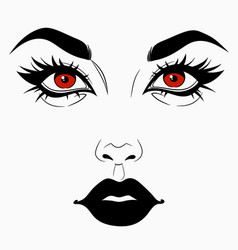Face girl witch 2 vector