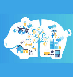 Financial planning vector