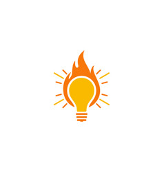 fire idea logo icon design vector image