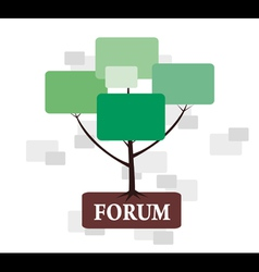 Forum Tree in green and brown color vector