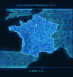 france abstract map highlighted vector image