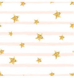 gold star -seamless pattern cute vector image