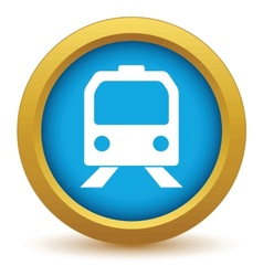 Gold train icon vector image