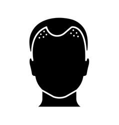 Hair loss glyph icon vector