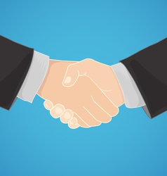 handshake in a businesslike manner vector image vector image