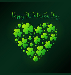 happy st patricks day or card vector image