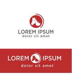 Head horse creative logo template icon vector
