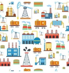 Industrial seamless pattern with oil and petrol vector image