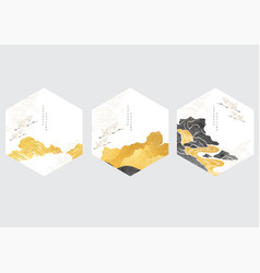 japanese background with stone and river vector image