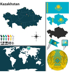 Kazakhstan map vector image