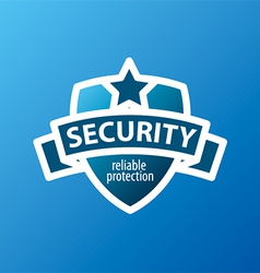 logo for security services in the form of shield vector image