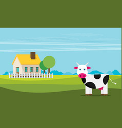 lovely countryside flat vector image