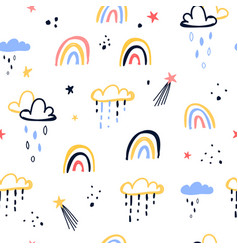 magic icons seamless pattern vector image