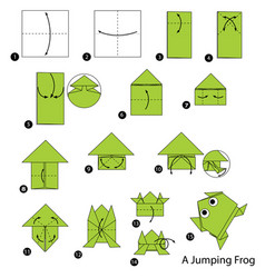make origami a jumping frog vector image