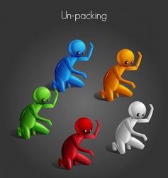 Man unpack vector