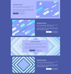 modern design purple set on vector image