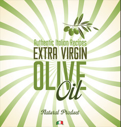 olive oil retro background 4 vector image