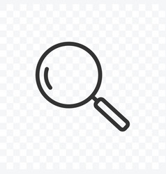 outline search icon isolated on transparent vector image