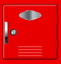 Personal storage box modern red safe vector