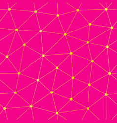 pink color triangle seamless pattern vector image