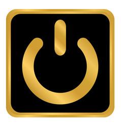 power symbol button vector image