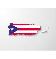 puerto rico map with shadow effect presentation vector image