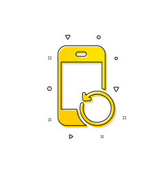 Recovery phone icon backup data sign restore vector