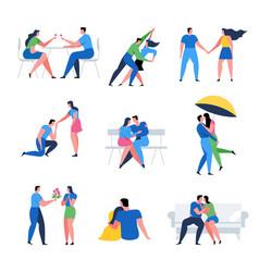 romantic couple concepts set vector image