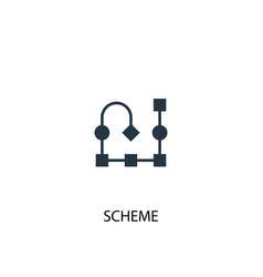 scheme icon simple element scheme vector image