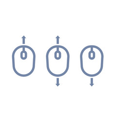 scroll up down with mouse icon vector image
