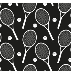 seamless texture with silhouettes of rackets and a vector image