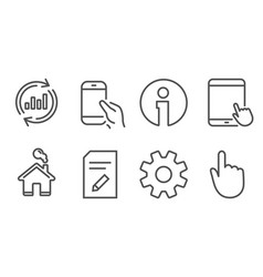 service update data and edit document icons vector image