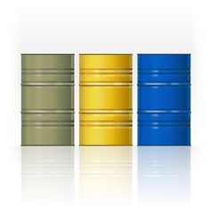 Set color steel barrels vector