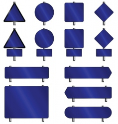 Sign blue vector