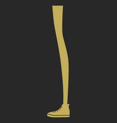 silhouette long woman leg vector image