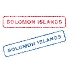 Solomon islands textile stamps vector