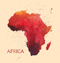 Stylized map of africa vector