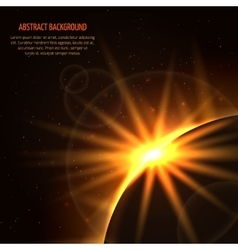 Sunrise space background vector image