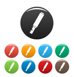 toy whistle icons set color vector image