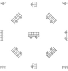 trail tractor pattern seamless vector image