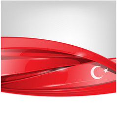 turkey background with flag element vector image
