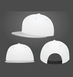 White baseball caps vector