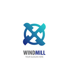 Wind mill logo for business company simple vector