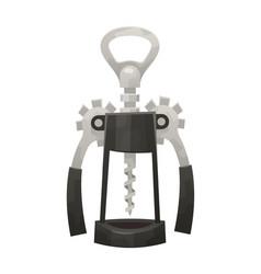Wine corkscrew opener isolated on white background vector