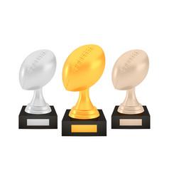 winner american football awards set gold silver vector image