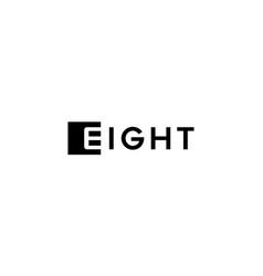 wordmark eight logo design concept vector image