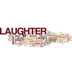 laughter is good for you text background word vector image