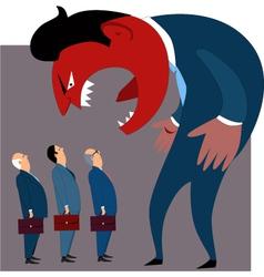 Anger management problems vector image