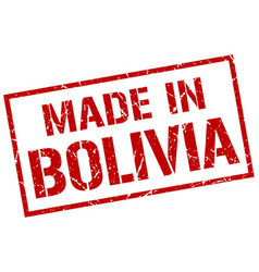 made in bolivia stamp vector image vector image
