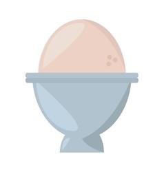 Soft boiled egg breakfast design vector